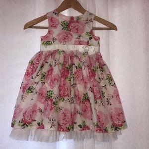🌸Little Me gorgeous flower dress GUC size 4T